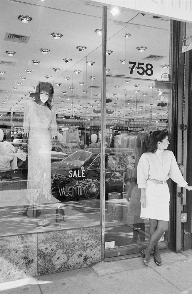 Woman and mannequin